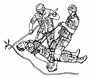 Figure 6-7. Removing an electrical wire beneath a casualty
