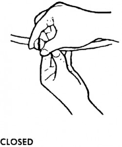 Figure 7-10. Stopcock in the closed position.