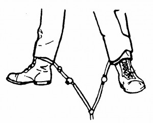 Figure 7-8. Trousers with both air hoses attached to the legs.