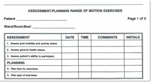Sample Nursing Assessment Form Health Care Practitioner Physical